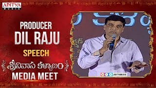 Producer Dil Raju Emotional Speech About Srinivasa Kalyanam Movie || Nithiin, Raashi Khanna - ADITYAMUSIC