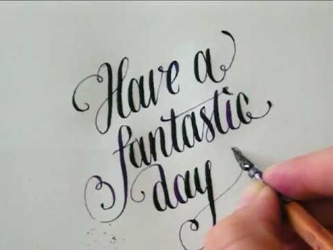 Calligraphy - Have a fantastic day