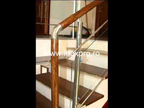 Balustrade inox lemn sticla | modele balustrade inox | Inoxpro