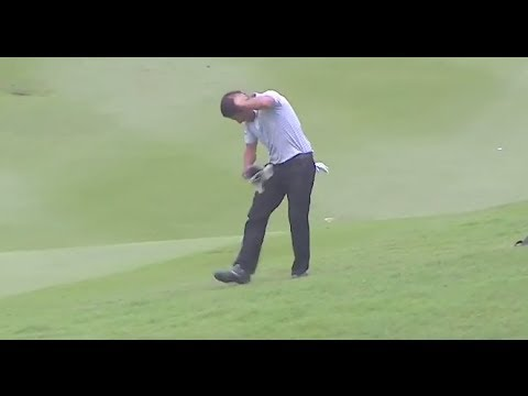 VIDEO: Golfista Larrazábal salta al agua tras ser ATACADO POR 40 AVISPAS en el Malaysian Open