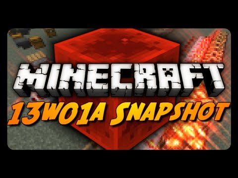 Minecraft Snapshots - 13w01a - The Redstone Update! (1.5 Snapshot)
