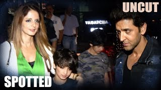 Hrithik Roshan And Sussanne Khan With Kids Spotted At Yauatcha | Uncut | 2017 - HUNGAMA