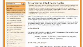 Using purdue owl as mla and bibliography resource youtube ccuart Choice Image