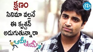 Adivi Sesh About Kshanam Movie || #Amitumi || Talking Movies With iDream - IDREAMMOVIES