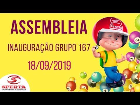 Sperta Consórcio - Assembleia de Inauguração Grupo 167 - 18/09/2019