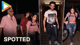 Janhvi Kapoor, Boney Kapoor & Kartik Aaryan SPOTTED late in the night - HUNGAMA