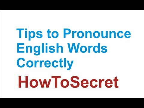 How to Learn Correct English Pronunciation - 5 tips