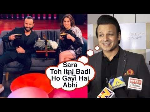 Vivek Oberoi SHOCKING Reaction On Sara Ali Khan | Itni Badi Ho Gayi Hai Abhi | Kedarnath I Bollywood