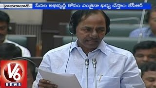 CM KCR announcement on 'Aasara' scheme in Assembly - V6NEWSTELUGU
