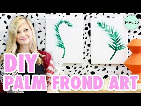 DIY Palm Leaf Art // Minimalist Design