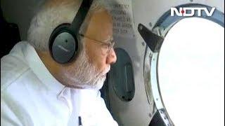 पीएम ने बाढ़ प्रभावित इलाक़ों का हवाई दौरा किया, 500 करोड़ रुपये के पैकेज का एलान - NDTVINDIA