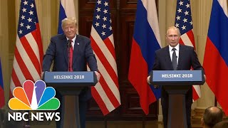 Vladimir Putin Believes The U.S.'s Russia Investigation Should Be Settled In Court | NBC News - NBCNEWS