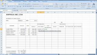 Dise o eleboracion y preparacion de una nomina for Como hacer una nomina en excel con formulas