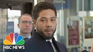 Watch live: Jussie Smollet, lawyers speak after all charges dropped in Chicago - NBCNEWS