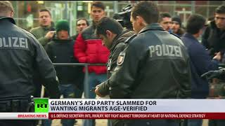 Germany's AfD party slammed for proposal to verify ages of all migrants - RUSSIATODAY