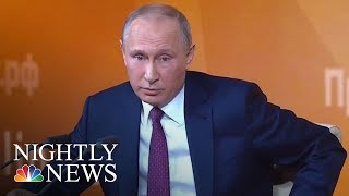 Vladimir Putin Praises Donald Trump, Dismisses Russia Collusion Claims | NBC Nightly News - NBCNEWS