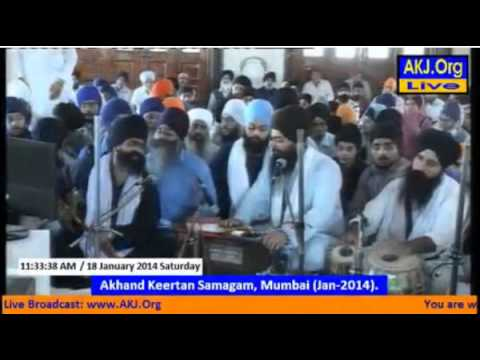 Bhai Harsimran singh California - Akj Mumbai samagam 2014, saturday morning