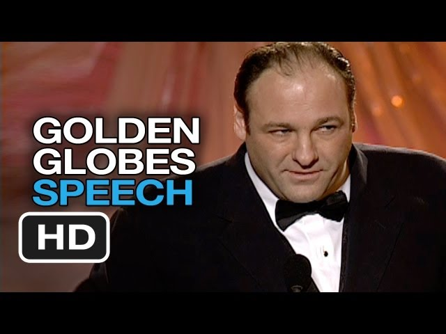 James Gandolfini Acceptance Speech - Golden Globes (2000) - Awards Show HD