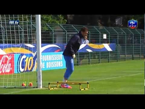 Equipe de France - L'entraînement spécifique des gardiens de but