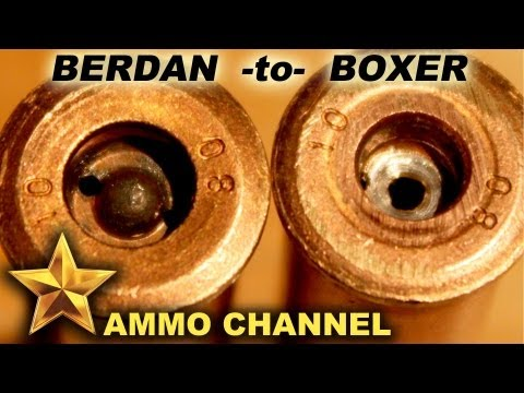 Berdan to Boxer primer conversion for steel & brass ammo cases - Reloading 7.62x54r Large Rifle