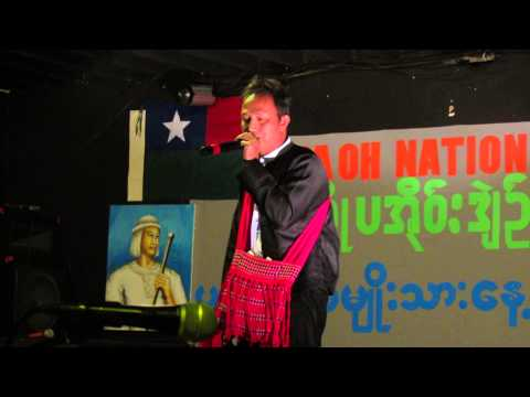 A Pa Ohnese Sings a Song On Pa Oh National Day in Amarillo, March 24, 2013