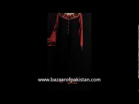 Black trendy Shirt with Embroidery www.bazaarofpakistan.com pakistani bazaar