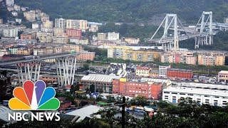 Drivers Killed As Highway Overpass Collapses In Italy | NBC News - NBCNEWS