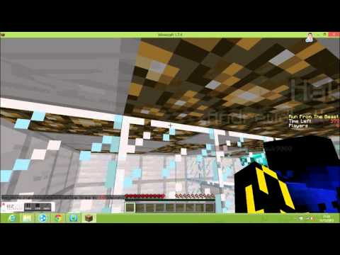 Minecraft minigame RUN FROM TEH BEAST
