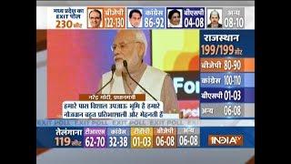 PM Modi hits out at Congress using development data of his govt - INDIATV