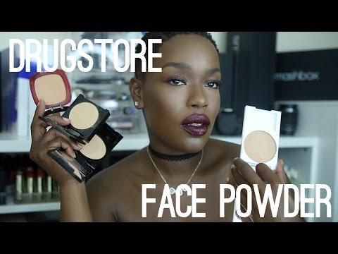 Top 5 DRUGSTORE Facial Powder | Dark Skin Highlight