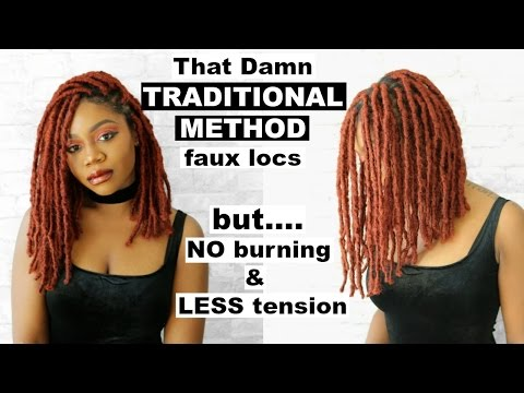 WATCH ME REMIND MYSELF WHY I DON'T LIKE WRAPPING FAUX LOCS | DIY Copper Bob Faux Locs Tutorial |