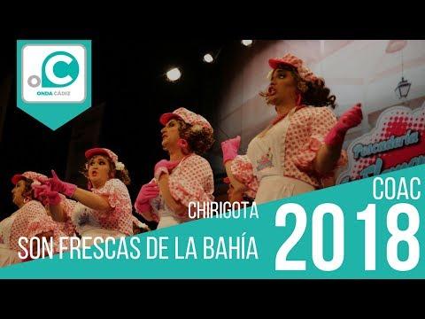 La agrupación Son frescas de la bahía llega al COAC 2018 en la modalidad de Chirigotas. En años anteriores (2017) concursaron en el Teatro Falla como Los cachafantasmas, consiguiendo una clasificación en el concurso de Preliminares.