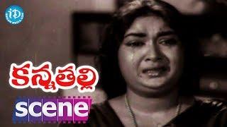 Kanna Thalli Movie Scenes - Savitri Worries About Her Daughter    Sobhan Babu    Prabhakar Reddy - IDREAMMOVIES