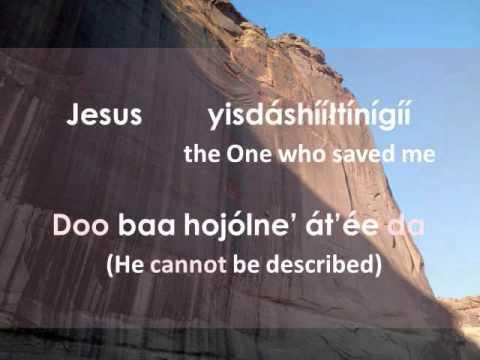 My God Is Real (Lyrics in Navajo)