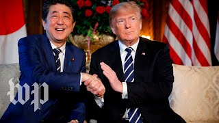 Trump has lunch with Japanese Prime Minister Abe - WASHINGTONPOST