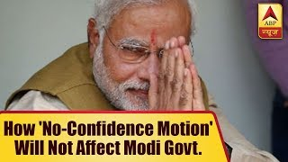 This is how 'no-confidence motion' will not affect Modi government in Parliament - ABPNEWSTV