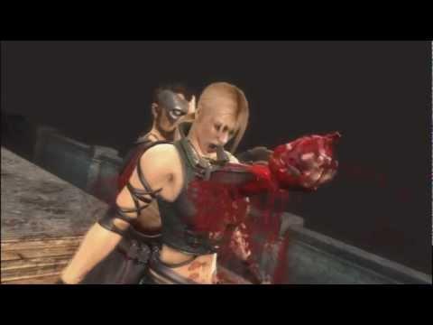 Mortal Kombat 9  Ryona Kano heartbreak fatality Jade Sindel Skarlet Mileena Sonya Blade Kitana
