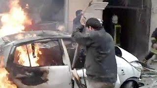 قوات المعارضة تقصف مبنى المخابرات الجوية بحلب