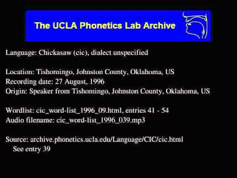 Chickasaw audio: cic_word-list_1996_039
