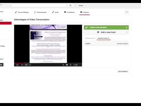 How to upload an interactive video transcript to YouTube