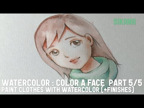 Watercolor: Paint the Clothing and Add Final Touches (Part 5/5)