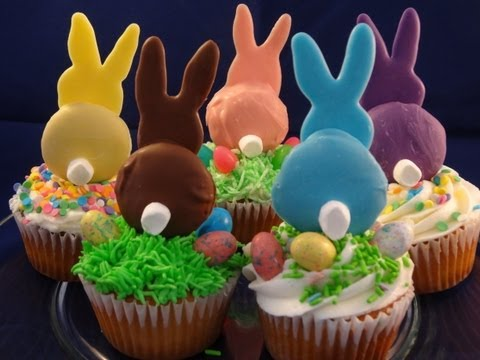 Decorating Cupcakes #118:  Easter Bunnies with yoyomax12