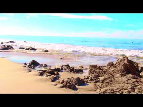 Relaxing Nature Music - Waves Crashing ~ Pacific Ocean ~ California Beach
