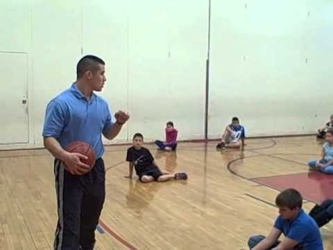 Student teaching 4th grade PE basketball lesson