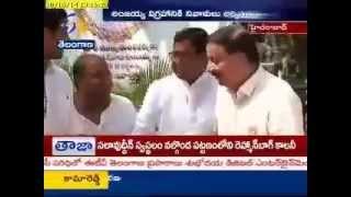 Telangana CM KCR Pays Homage To Ex CM T.Anjaiah - ETV2INDIA