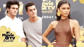ALL the Red Carpet Looks ft. Zendaya, The Dolan Twins & More 📸 | 2018 MTV Movie + TV Awards - MTV
