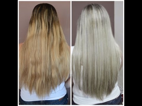 MECHAS PLATINADAS  ( Magic Color + KERATON Grafite) [HD] passo a passo por Talyta