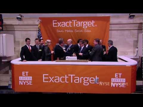 ExactTarget lists IPO and rings the NYSE Opening Bell ExactTarget (NYSE-Listed ET), a global provider of cross-channel interactive marketing solutions, visits the NYSE to celebrate the company's completion of it... Remember Scott Dorsey, former Steelcase/Metro friend ?