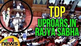 TDP Leaders Uproars In Rajya Sabha Makes Panic In BJP Leaders | Rajya Sabha Adjourned | Mango News - MANGONEWS