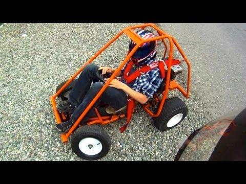 Homemade Go-Kart And Mini-Bike (GoPro & Rollover)